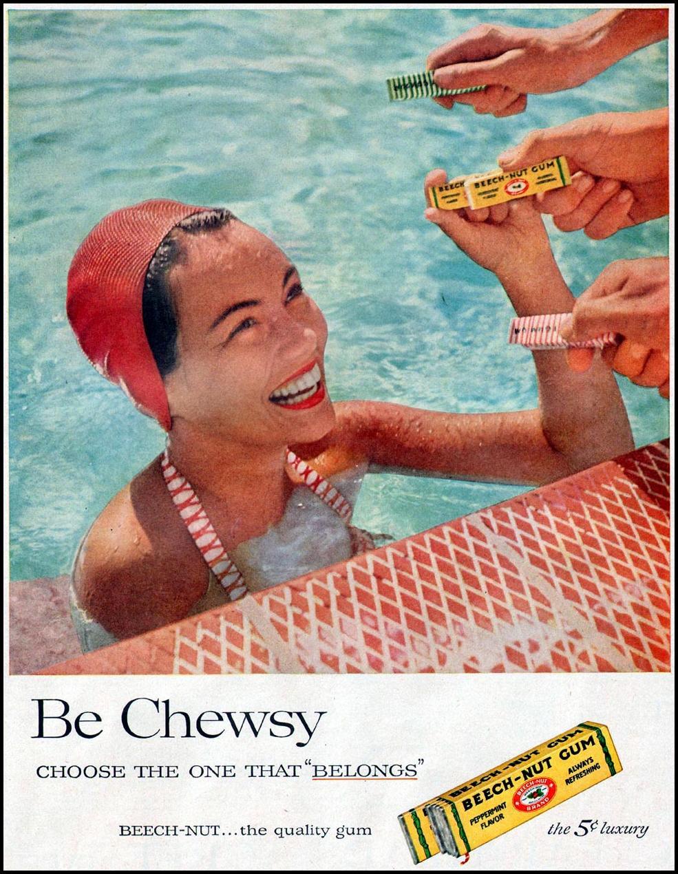BEECH-NUT CHEWING GUM LIFE 07/01/1957 p. 63