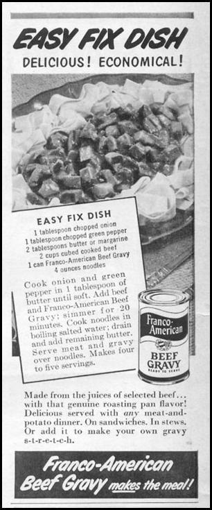 FRANCO-AMERICAN BEEF GRAVY LIFE 06/05/1950 p. 8