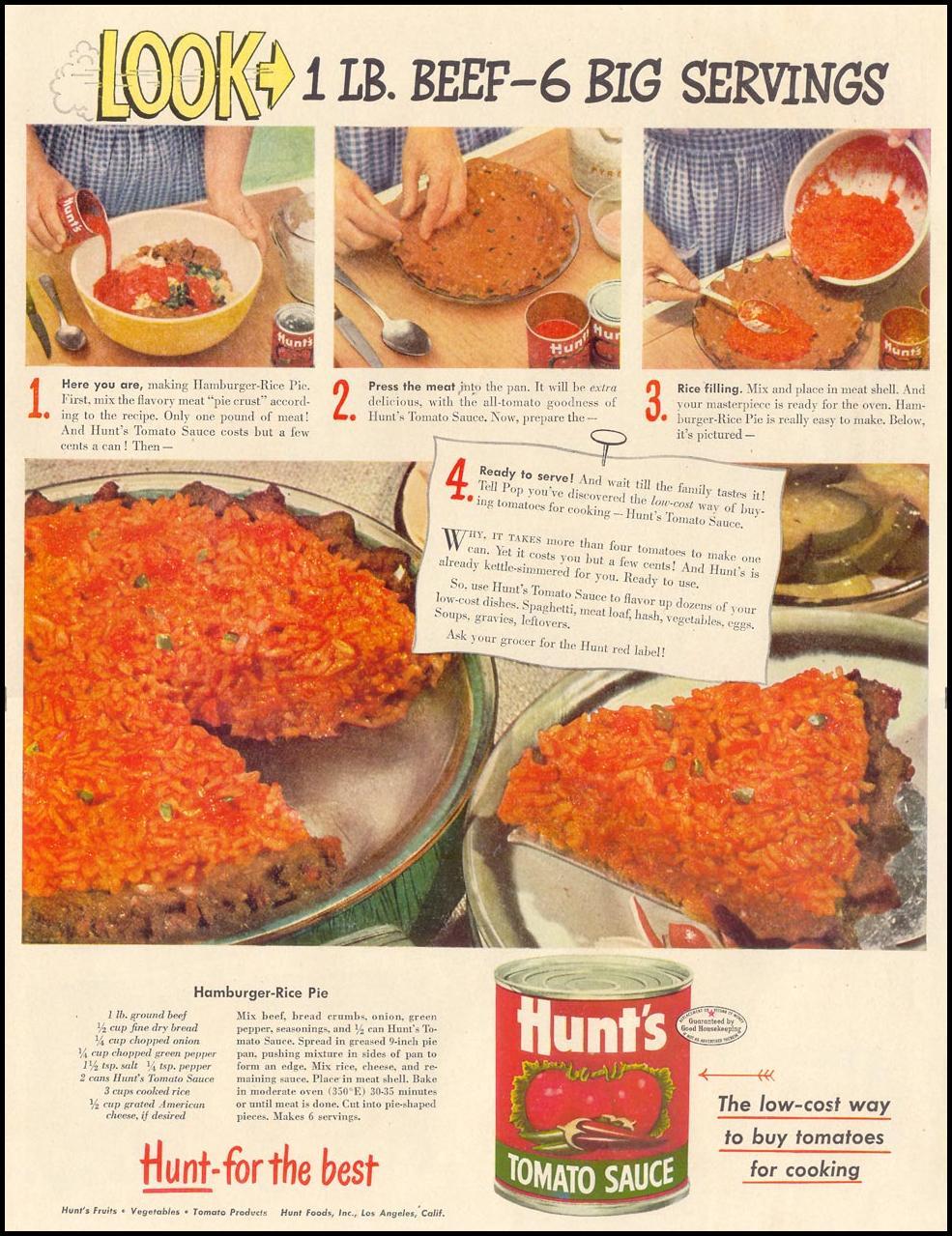 HUNT'S TOMATO SAUCE LIFE 11/15/1948