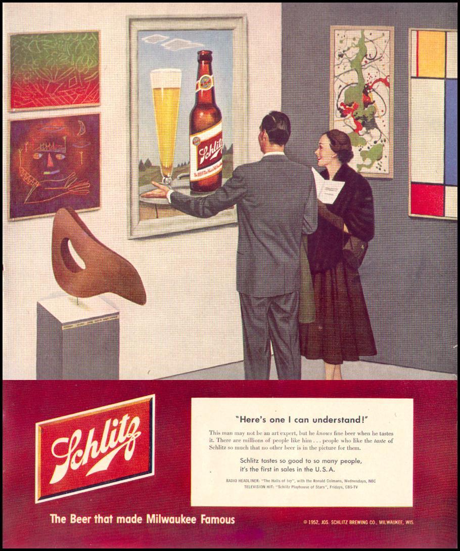 SCHLITZ BEER LIFE 01/21/1952 p. 57