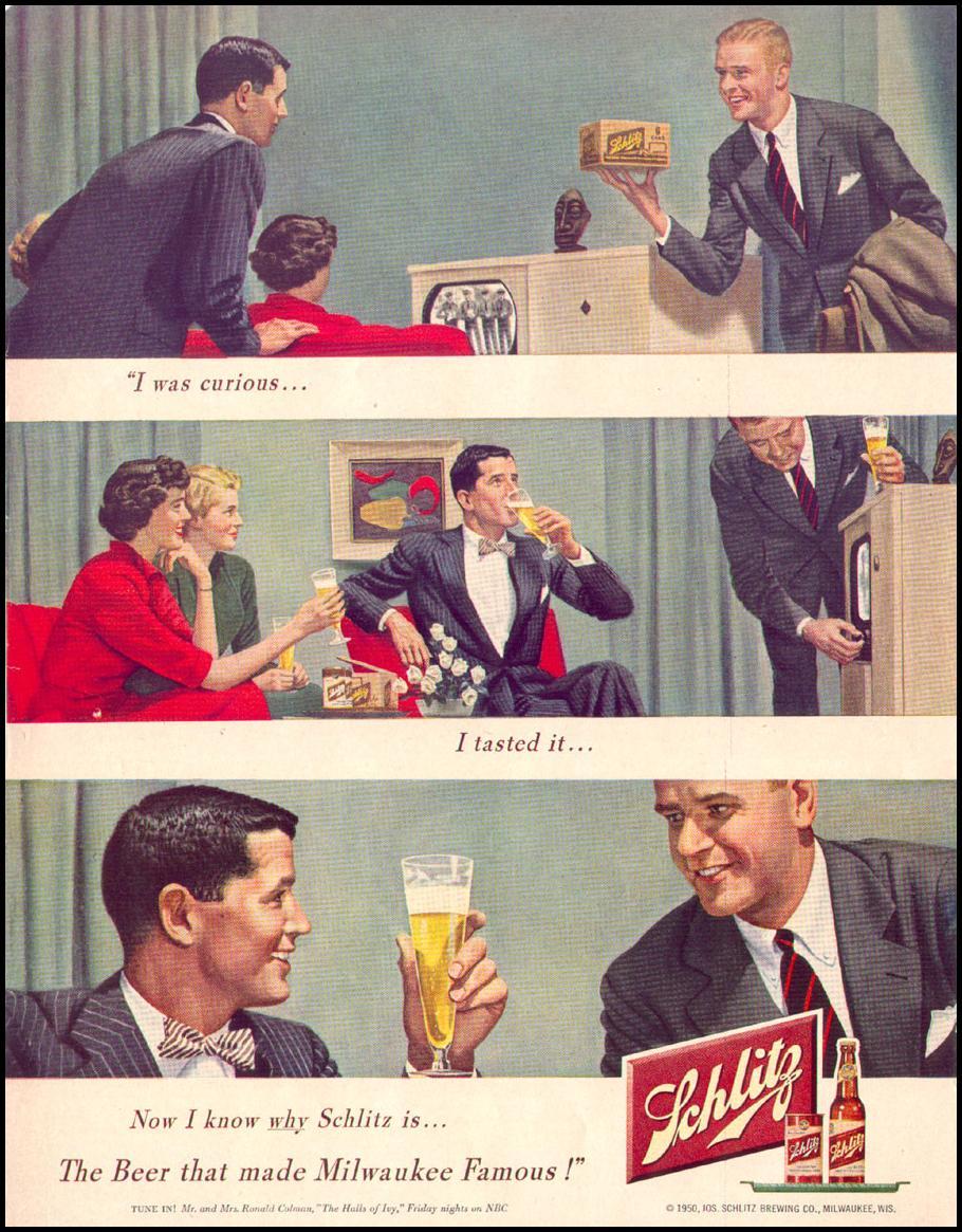 SCHLITZ BEER LIFE 04/17/1950 p. 74