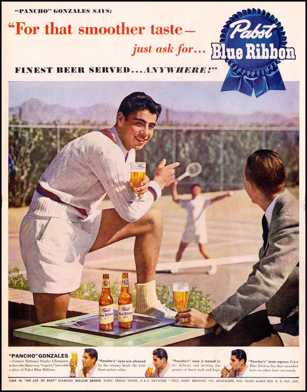 PABST BLUE RIBBON BEER LIFE 06/05/1950 p. 58