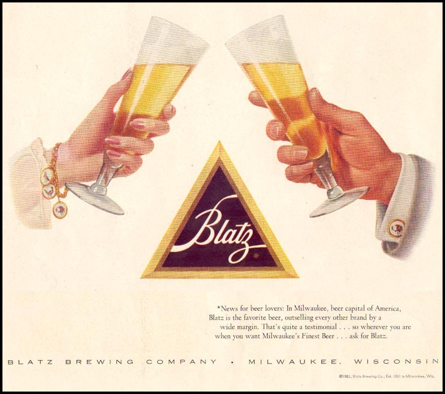 BLATZ BEER LIFE 06/16/1952 p. 70
