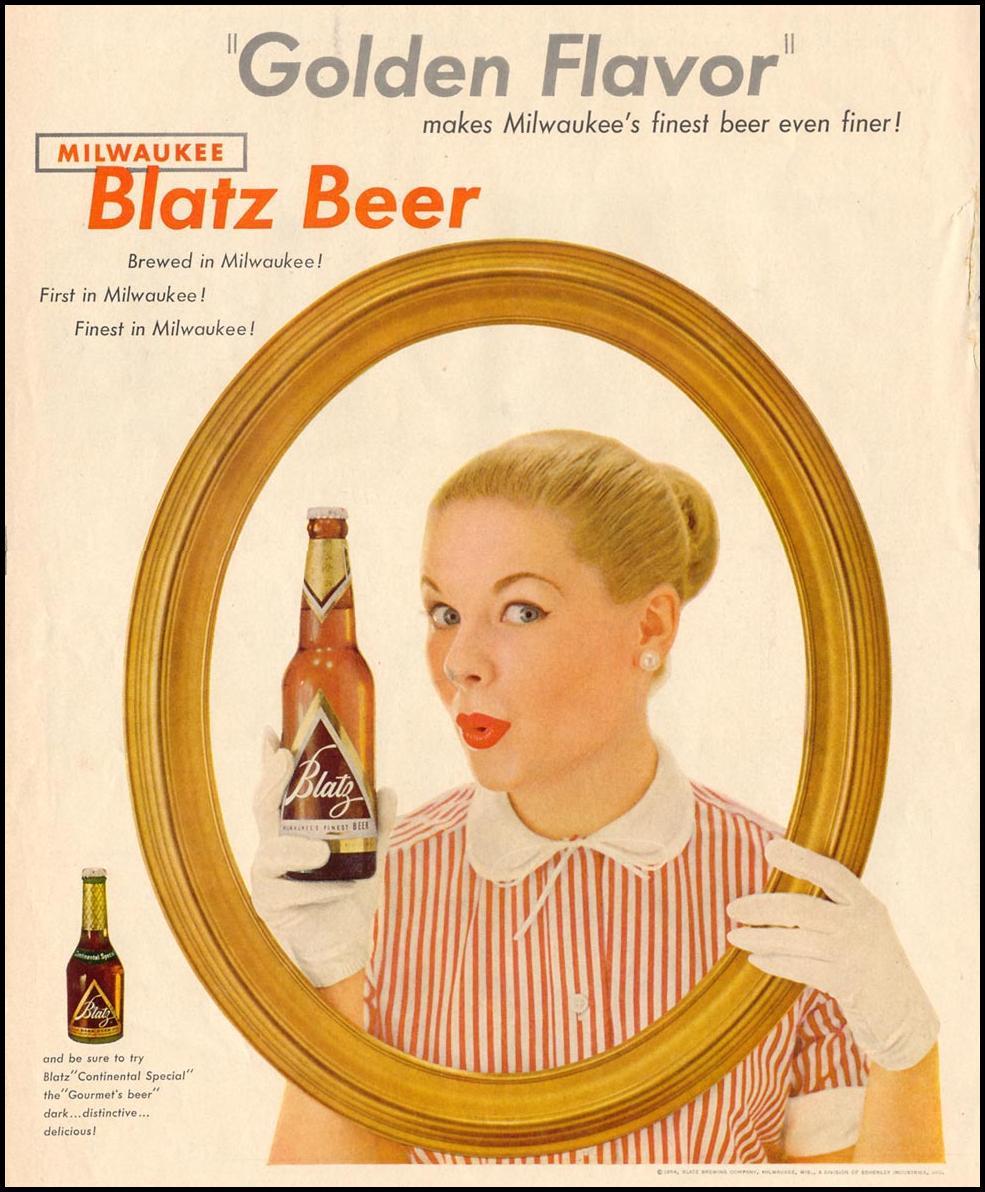 BLATZ BEER LIFE 07/12/1954 p. 58