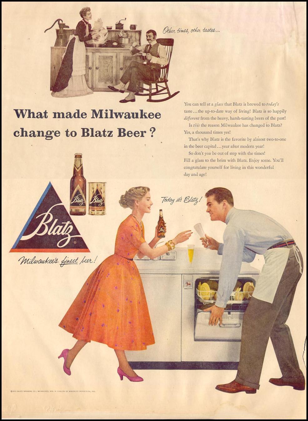 BLATZ BEER LIFE 08/17/1953 p. 94