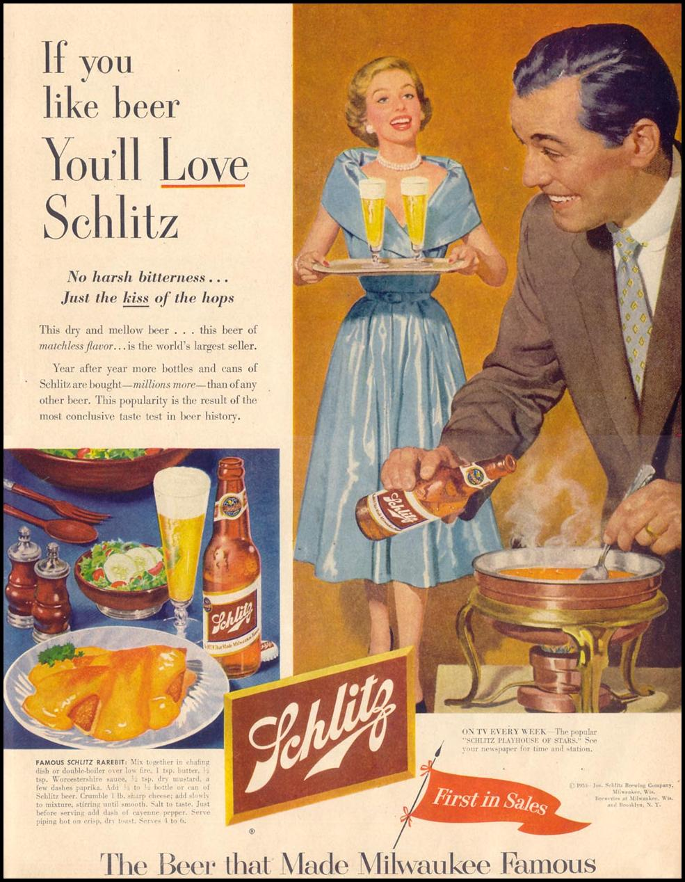 SCHLITZ BEER LIFE 09/07/1953 p. 85