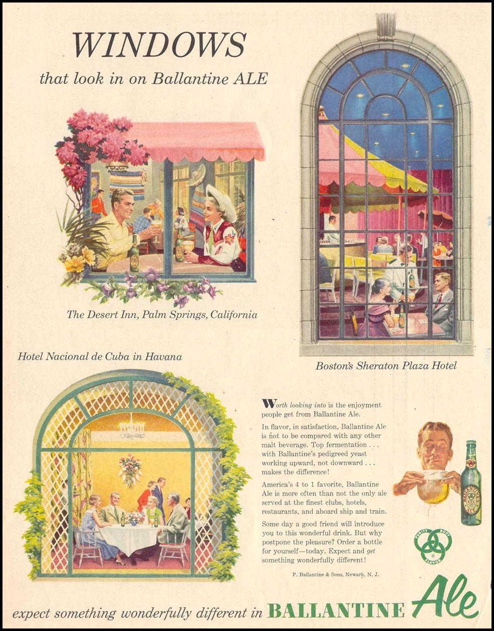 BALLANTINE ALE LIFE 10/19/1953 p. 62