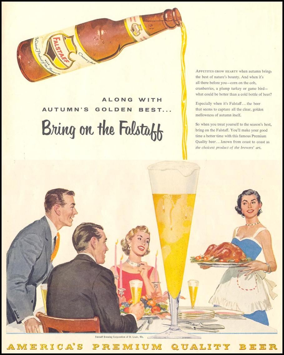 FALSTAFF BEER LIFE 11/14/1955 p. 62