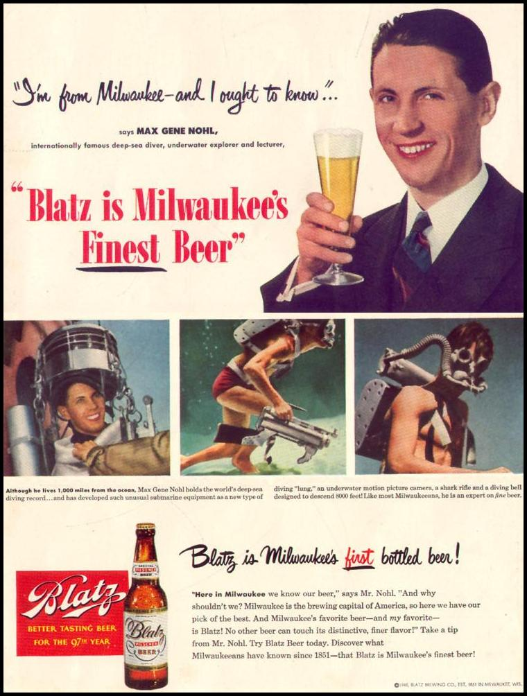 BLATZ BEER LIFE 12/27/1948 INSIDE BACK
