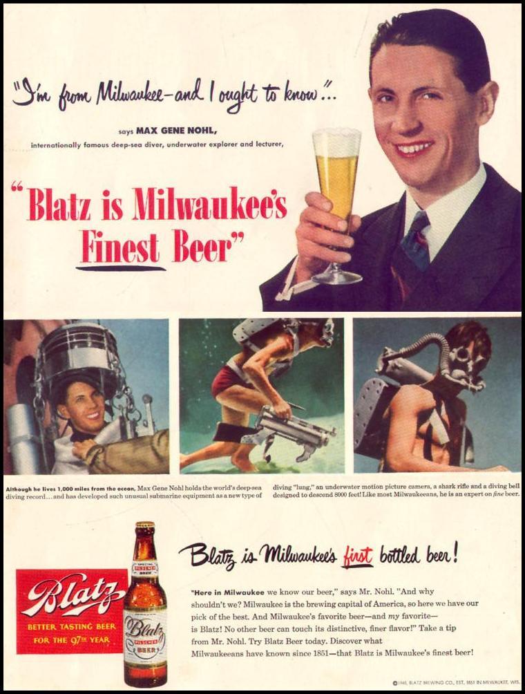 BLATZ BEER LIFE 12/27/1948 INSIDE BACK