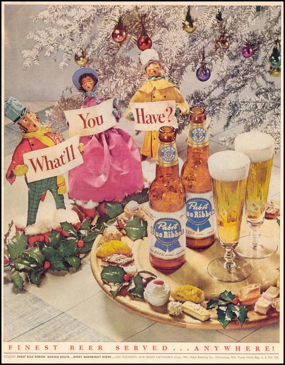 PABST BLUE RIBBON BEER LOOK 12/04/1951 p. 55