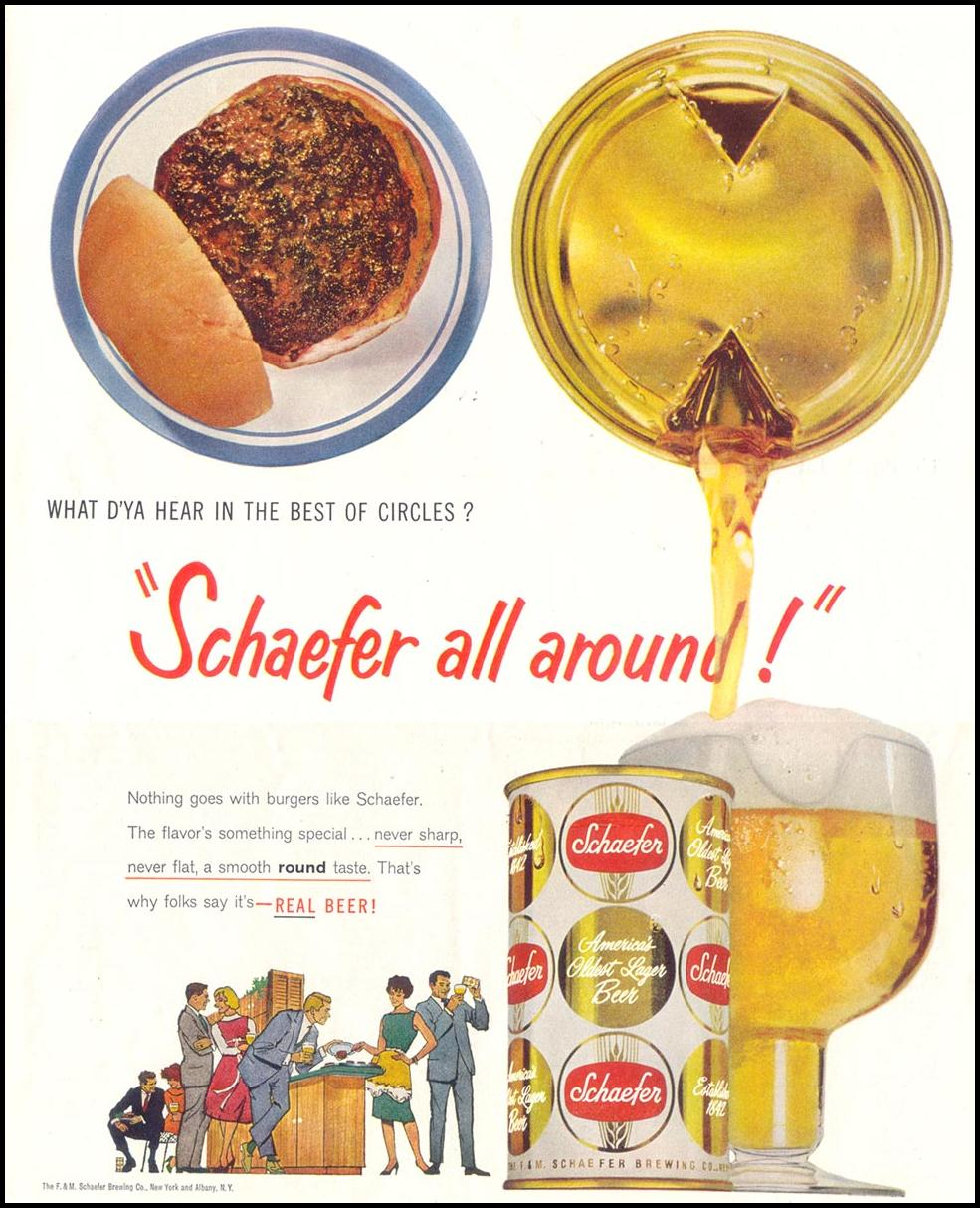 SHAEFER BEER SATURDAY EVENING POST 05/02/1959 p. 99