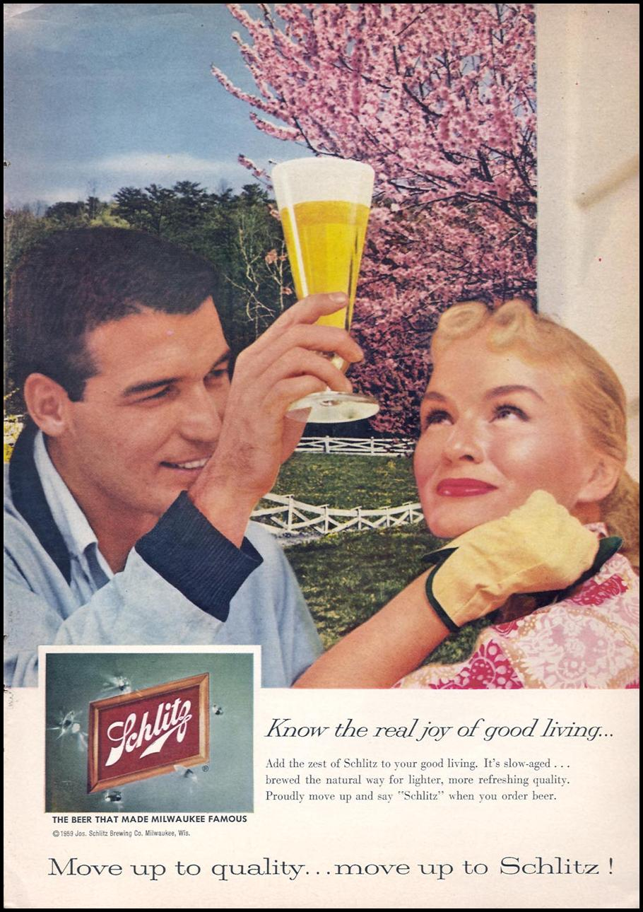 SCHLITZ BEER SPORTS ILLUSTRATED 04/27/1959 p. 55
