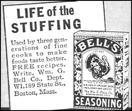 BELL'S SEASONING WOMAN'S DAY 11/01/1946 p. 103