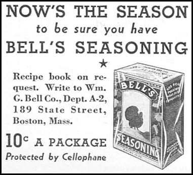 BELL'S SEASONING GOOD HOUSEKEEPING 12/01/1933 p. 178