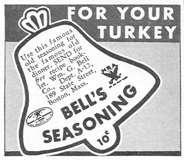 BELL'S SEASONING GOOD HOUSEKEEPING 12/01/1934 p. 202