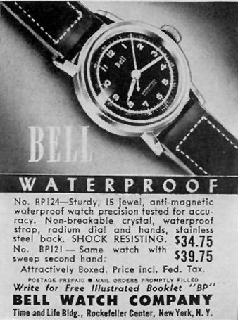 BELL WATERPROOF SHOCK-RESISTANT WATCH LIFE 05/24/1943 p. 100
