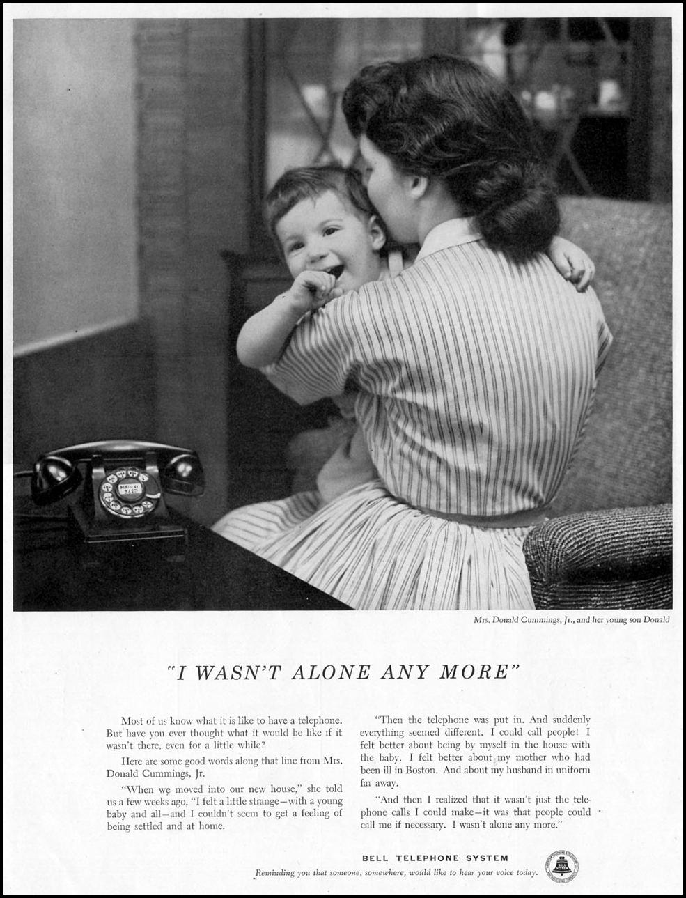 TELEPHONE SERVICE SATURDAY EVENING POST 01/08/1955 p. 87