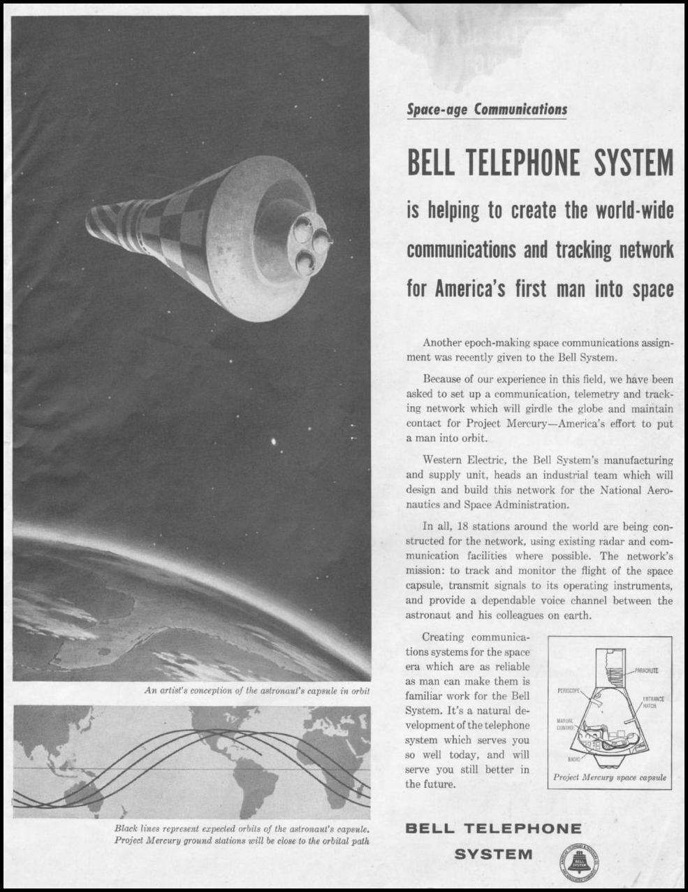 TELEPHONE SERVICE SATURDAY EVENING POST 06/04/1960 p. 1