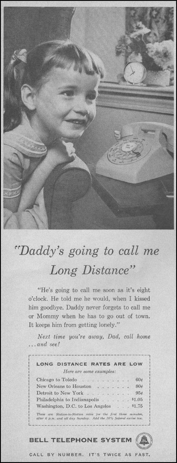 TELEPHONE SERVICE SATURDAY EVENING POST 06/11/1960 p. 6