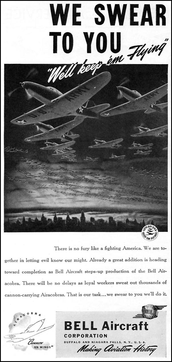AIRACOBRA FIGHTER AIRCRAFT TIME 02/16/1942 p. 74