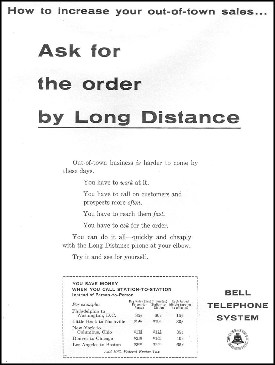 LONG DISTANCE TELEPHONE SERVICE TIME 09/15/1958 p. 12