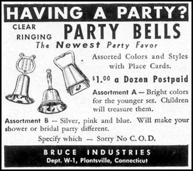 PARTY BELLS WOMAN'S DAY 02/01/1950 p. 130
