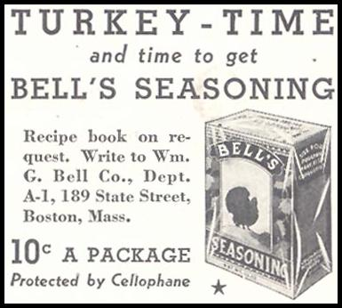 BELL'S SEASONING GOOD HOUSEKEEPING 11/01/1933 p. 180