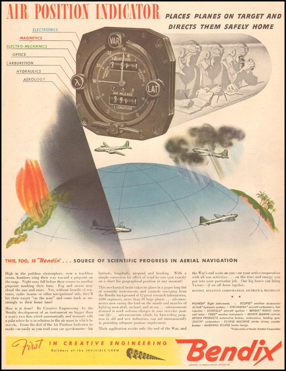 BENDIX AIR POSITION INDICATOR LIFE 06/04/1945