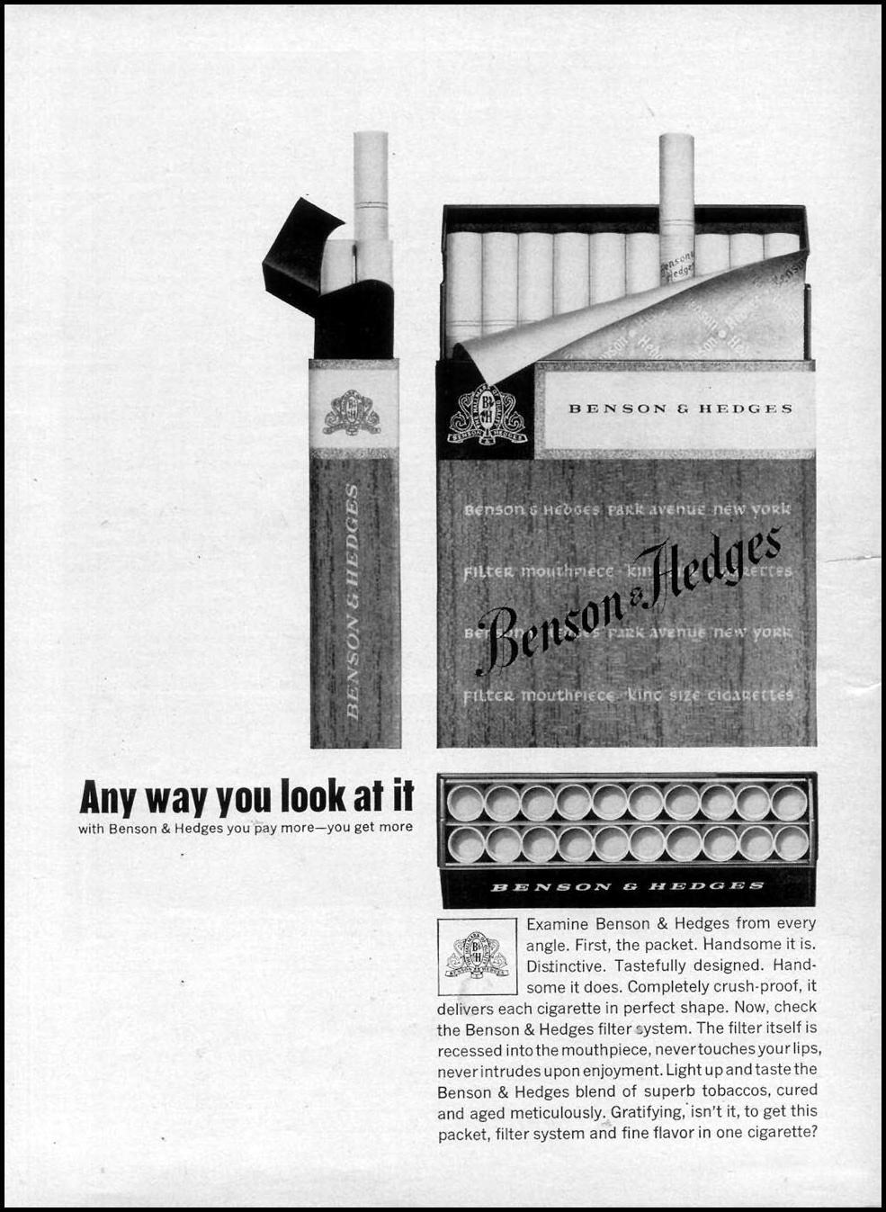BENSON & HEDGES CIGARETTES TIME 07/13/1962 p. 8