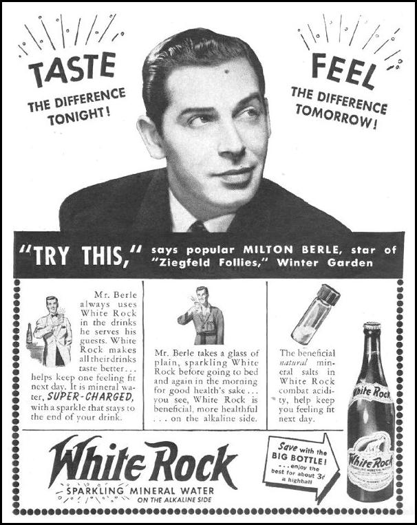WHITE ROCK MINERAL WATER LIFE 10/25/1943 p. 84