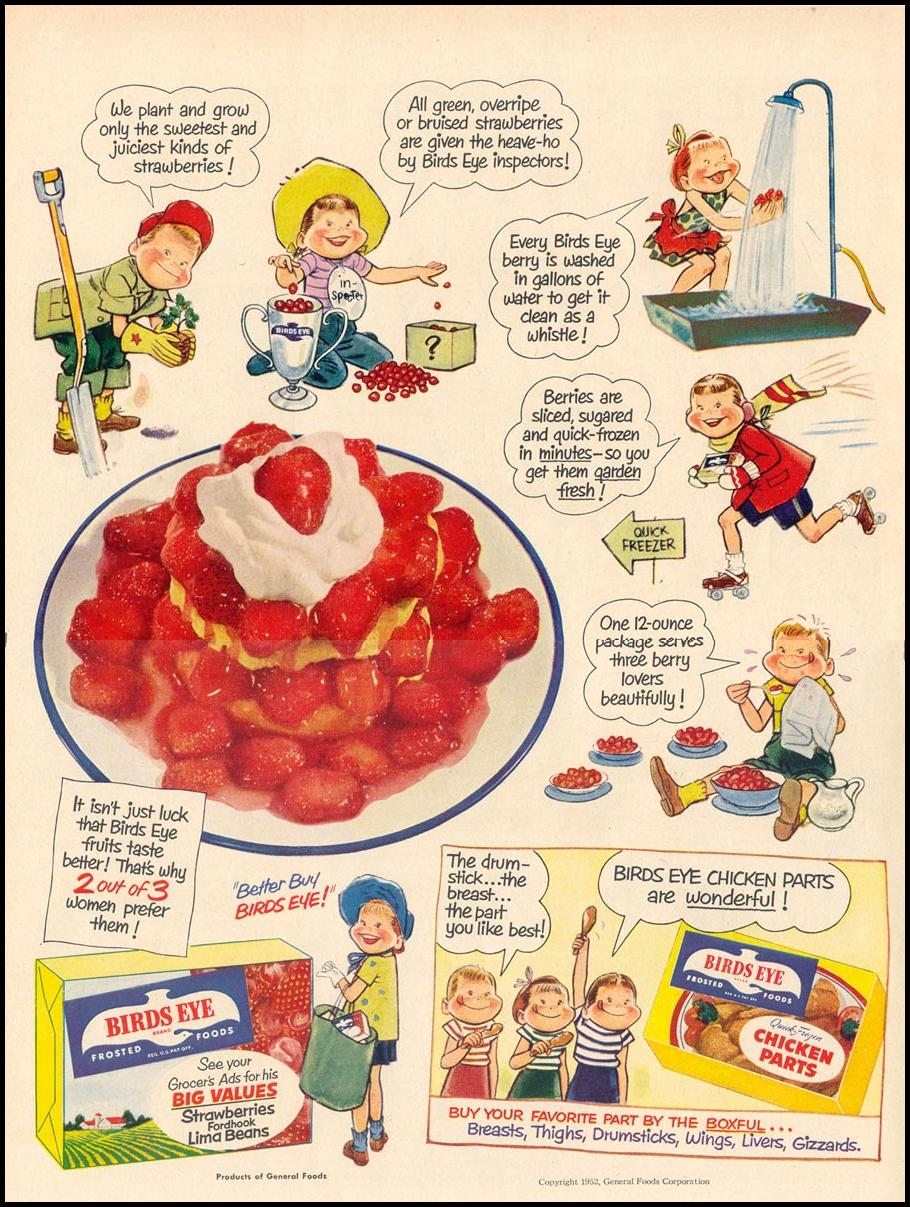 BIRDS EYE FROZEN FOODS LIFE 01/21/1952 p. 30