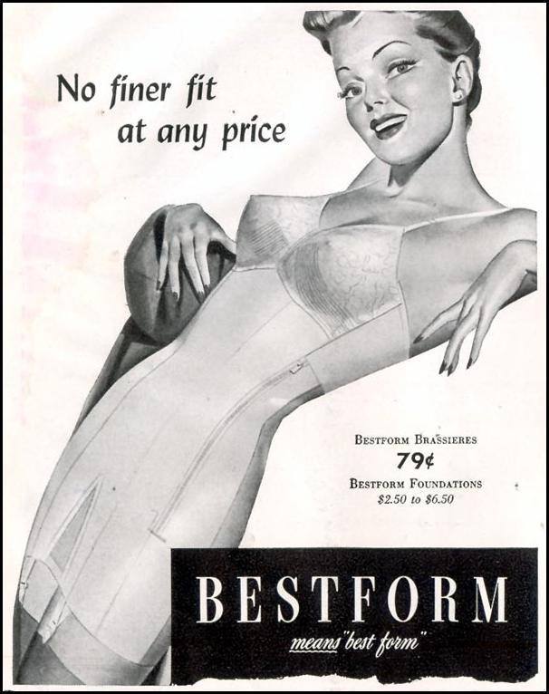 BESTFORM BRAS AND FOUNDATIONS LIFE 11/30/1942 p. 134