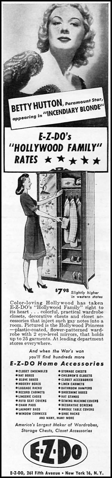 E-Z-DO HOME ACCESSORIES WOMAN'S DAY 09/01/1945 p. 85
