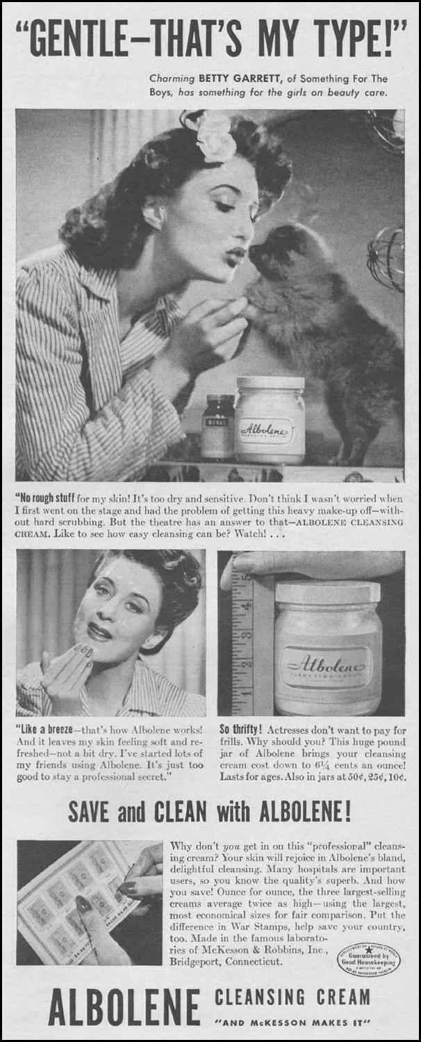ALBOLENE CLEANSING CREAM LIFE 06/22/1942 p. 61