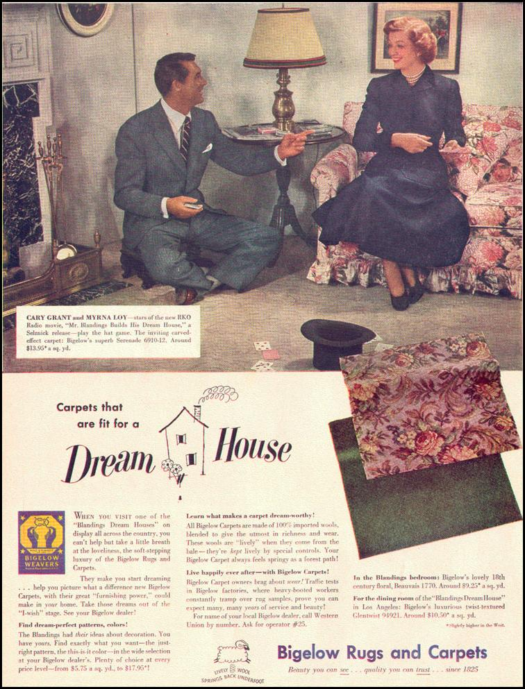 BIGELOW RUGS AND CARPETS LIFE 10/11/1948 p. 94
