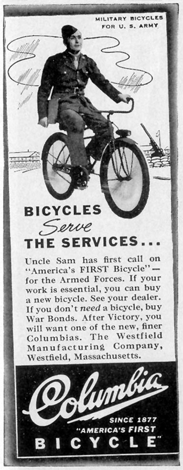 COLUMBIA BICYCLES LIFE 02/21/1944 p. 115