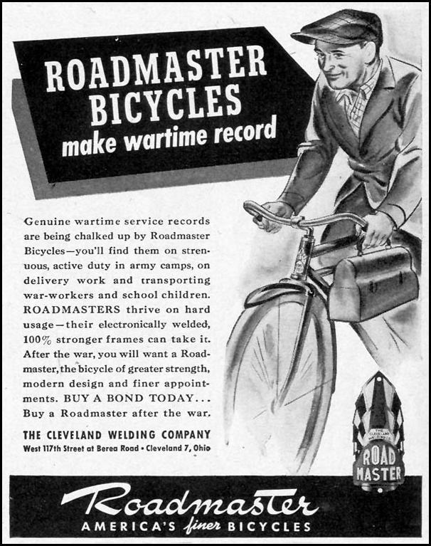 ROADMASTER BICYCLES LIFE 02/28/1944 p. 95