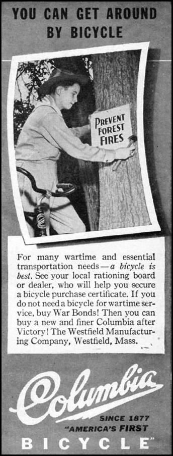 COLUMBIA BICYCLES LIFE 10/11/1943 p. 8
