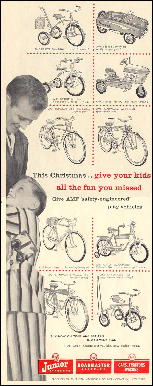 AMF BICYCLES LIFE 11/14/1955 p. 120