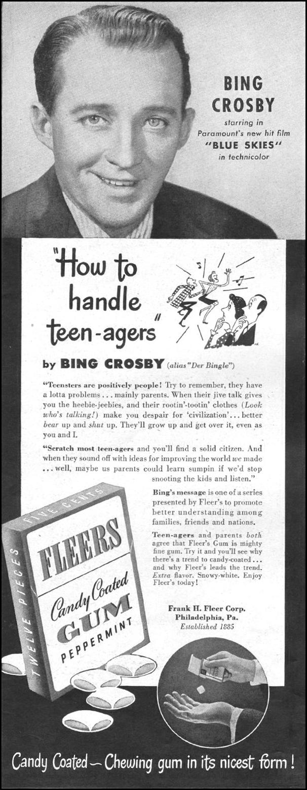FLEERS CHEWING GUM LIFE 11/25/1946 p. 22