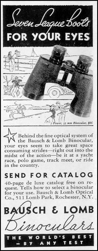 BAUSCH & LOMB BINOCULARS LIFE 09/20/1937 p. 108