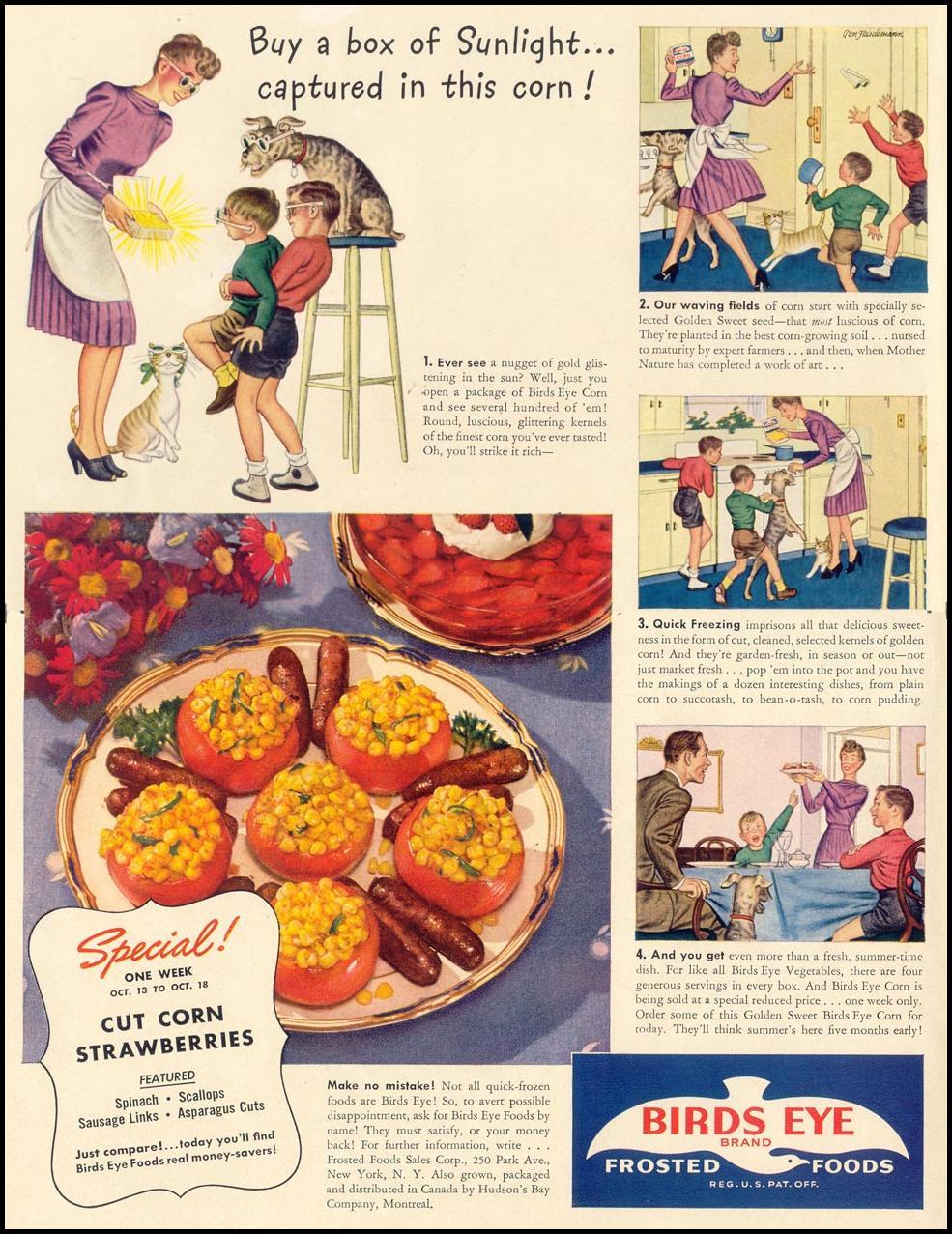 BIRDS EYE FROZEN FOODS LIFE 10/13/1941