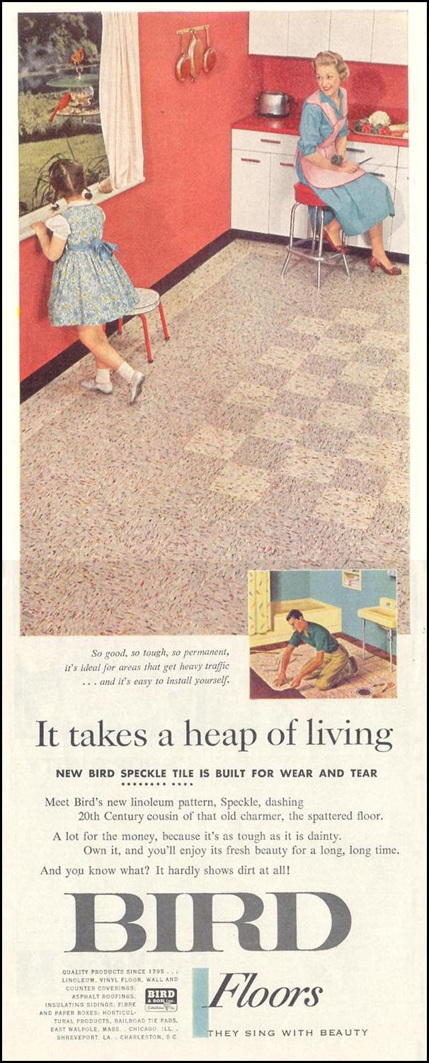 BIRD FLOORS SATURDAY EVENING POST 08/15/1959 p. 84