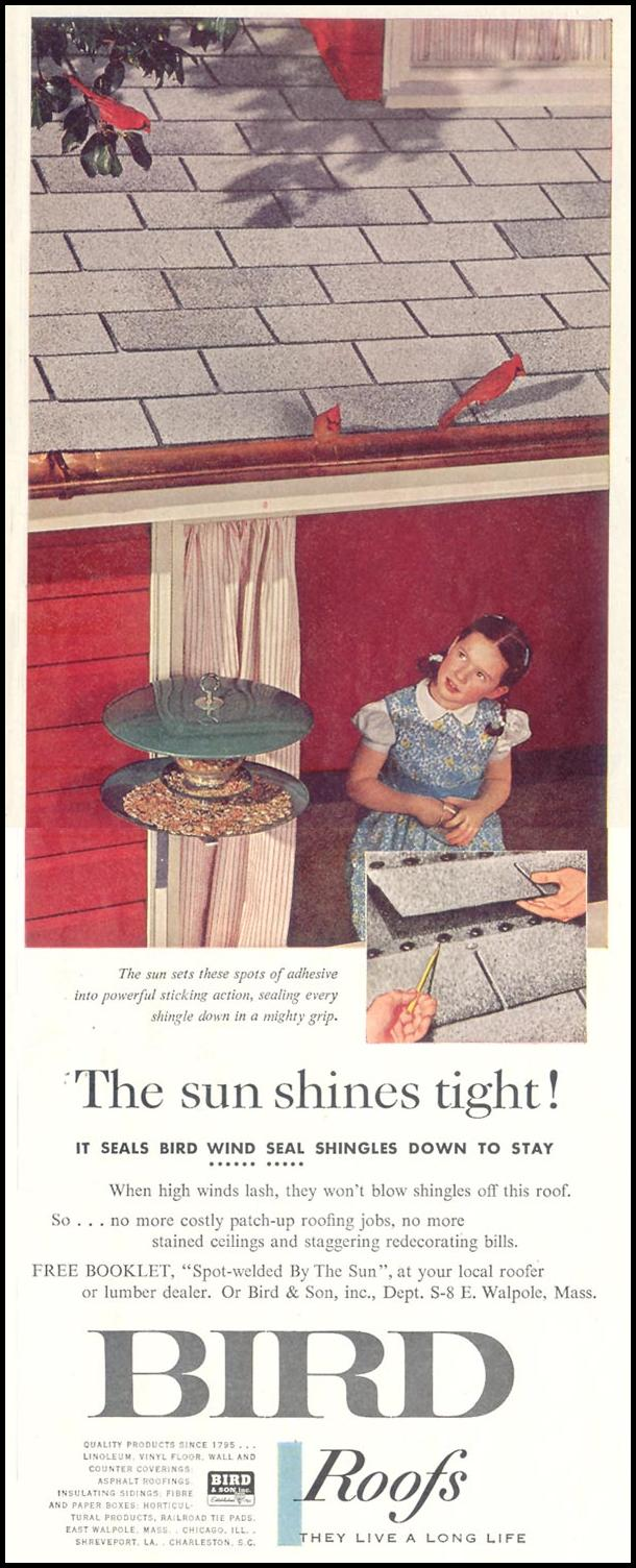 BIRD ROOFS SATURDAY EVENING POST 08/15/1959 p. 85