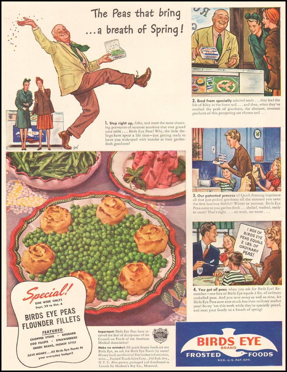 BIRDS EYE FROZEN FOODS LIFE 09/29/1941 p. 18