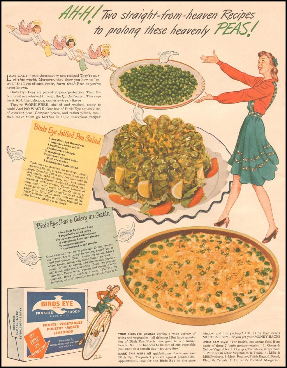 BIRDS EYE FROZEN FOODS LIFE 10/11/1943 p. 42