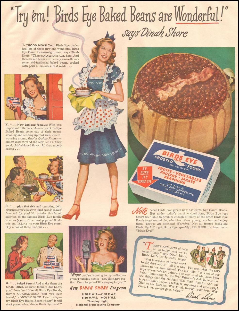 BIRDS EYE FROZEN FOODS LIFE 10/23/1944 p. 36