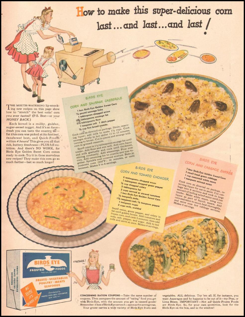 BIRDS EYE FROZEN FOODS LIFE 10/25/1943