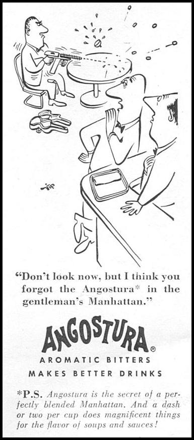 ANGOSTURA AROMATIC BITTERS NEWSWEEK 06/11/1951 p. 100
